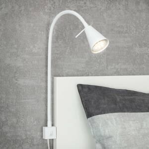 Briloner LED nástenná lampa 2080, montáž na posteľ, biela