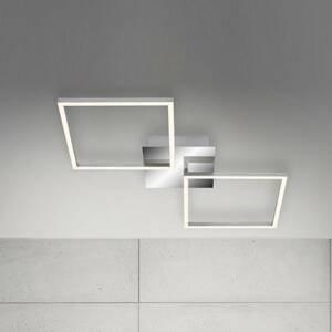 Briloner Stropné LED svietidlo Frame, hliník, 76 x 36cm