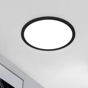 Briloner LED panel Piatto CCT diaľkové okrúhly čierny