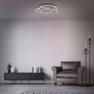 Briloner Stropné LED Frames tri kruhy pamäťová funkcia