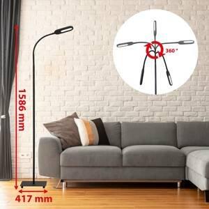 Briloner Stojaca LED lampa 1297-015 stmievateľná, čierna