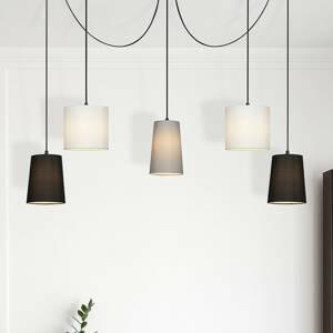 Briloner Závesná lampa 4107-055, 5-pl decentrálne zavesenie