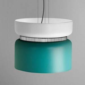 B.lux Závesné LED svietidlo Aspen S bielo-tyrkysové 40cm