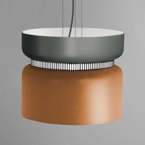 B.lux Závesné LED svietidlo Aspen S sivo-mangová 40cm