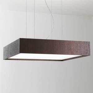 B.lux Závesná lampa Quadrat S s LED 60x60, wenge