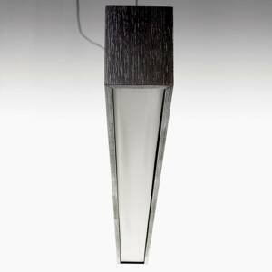 B.lux Quadrat S – závesné LED svietidlo 120x10, wenge