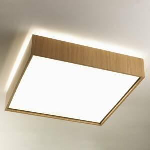 B.lux Stropné svietidlo Quadrat C s LED 60x60 dub