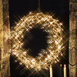 STAR TRADING Ozdobný LED veniec Curly, 50 cm