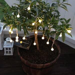 Best Season LED solárna reťaz Globini, teplé biele svetlo