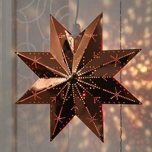 STAR TRADING V medenej farbe kovová hviezda Classic