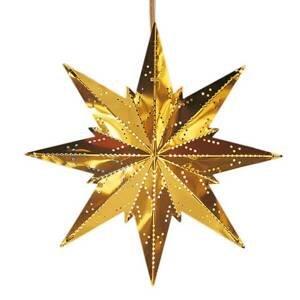 STAR TRADING V zlatej farbe kovová hviezda Mini