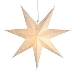 STAR TRADING Nežne vzorovaná papierová hviezda Sensy visiaca