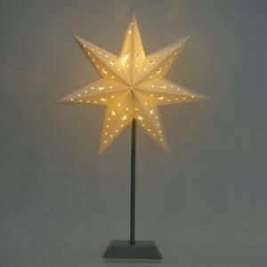 STAR TRADING Sedemcípa papierová LED hviezda Whitemas