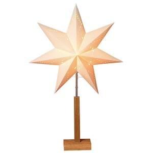 STAR TRADING Karo – stojaca deko lampa s hviezdnym vzorom 70cm