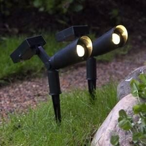 Best Season Solárna LED lampa Powerspot, sada 2, hroty do zeme