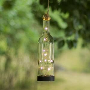 Best Season Solárna LED lampa Bottle, priehľadná