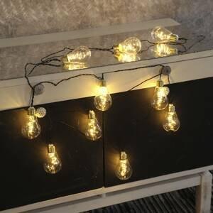 Best Season Svetelná LED reťaz Glow, sklo, biela