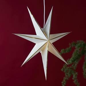 STAR TRADING Hviezda Lysa z papiera, biela/zlatá