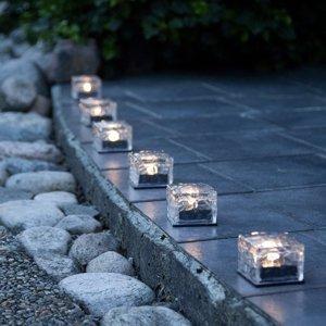 Best Season LED solárna sviečka Icecube, súprava 3 ks, kocka
