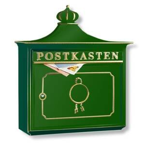 Burgwächter BORDEAUX poštová schránka Al zliatina, zelená