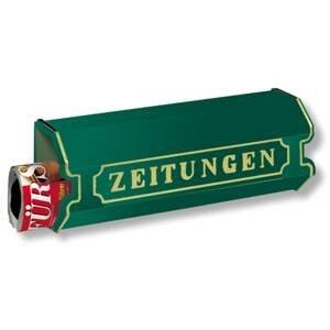 Burgwächter Box na noviny z hliníkovej zliatiny 1890, zelený