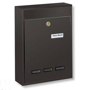 Burgwächter Priestorová poštová schránka KÖLN DIN A4, hnedá