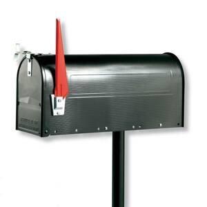 Burgwächter Poštová schránka USA s výkyvnou vlajkou, čierna