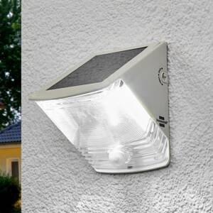 Brenenstuhl Solárna LED nástenná lampa SOL 04 IP44 biela