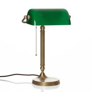 Berliner Messinglamp Ručne vyrobené bankárske svietidlo JIVAN