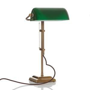 Berliner Messinglamp Skutočná bankárska lampa TULSI