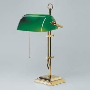 Berliner Messinglamp Bankárska lampa GITA z leštenej mosadze
