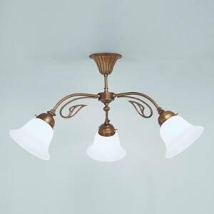 Berliner Messinglamp Stropné svietidlo HERTHA vyrobené z mosadze