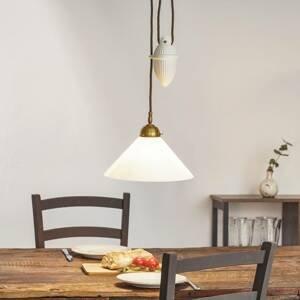 Berliner Messinglamp Závesná lampa HELENE s tiahlom