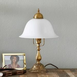 Berliner Messinglamp Zdobená stolná lampa Carolin z mosadze