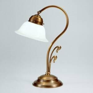 Berliner Messinglamp Zakrivená stolná lampa Hannelore