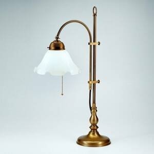 Berliner Messinglamp Stolná lampa Ernst – prakticky nastaviteľná