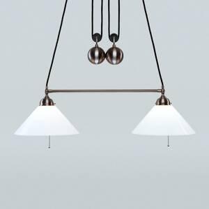 Berliner Messinglamp Výškovo nastaviteľná závesná lampa Emma
