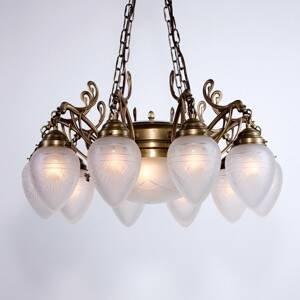 Berliner Messinglamp Visiaci luster Jerome, vyrobený ručne