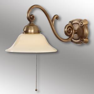 Berliner Messinglamp Starožitne navrhnuté nástenné svetlo Ella mosadz