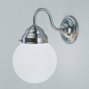 Berliner Messinglamp Nástenné svietidlo Larry, matný nikel