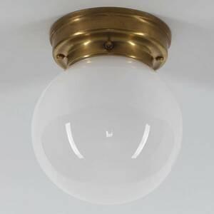 Berliner Messinglamp Stropné svietidlo D99–115 op B tienidlo opál sklo