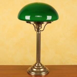 Berliner Messinglamp Mosadzná stolná lampa Hari so zeleným tienidlom