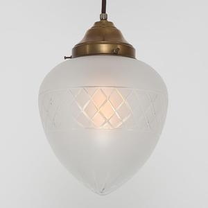Berliner Messinglamp Mosadzná závesná lampa PS66 matný krištáľ