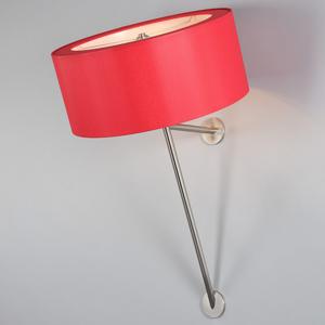 Berliner Messinglamp Nástenné svetlo WA-30, červené chincové tienidlo