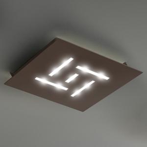BRAGA Ultra ploché stropné LED svietidlo Pattern, hnedé