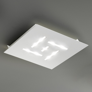 BRAGA Ultra ploché stropné LED svietidlo Pattern, biele