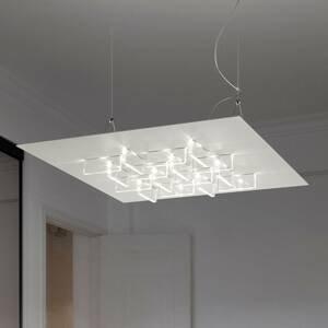 BRAGA LED závesné svietidlo Cristalli 50 x 50cm biele