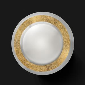BRAGA Stropné LED svietidlo Disco v zlatom prevedení