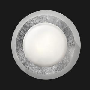 BRAGA Stropné LED svetlo Disco v striebornom prevedení