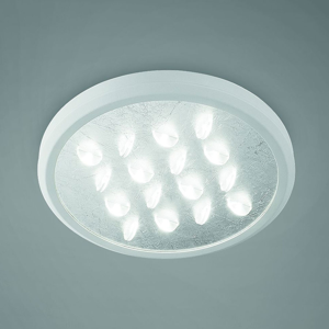 BRAGA Stropné LED svietidlo Luno, striebro